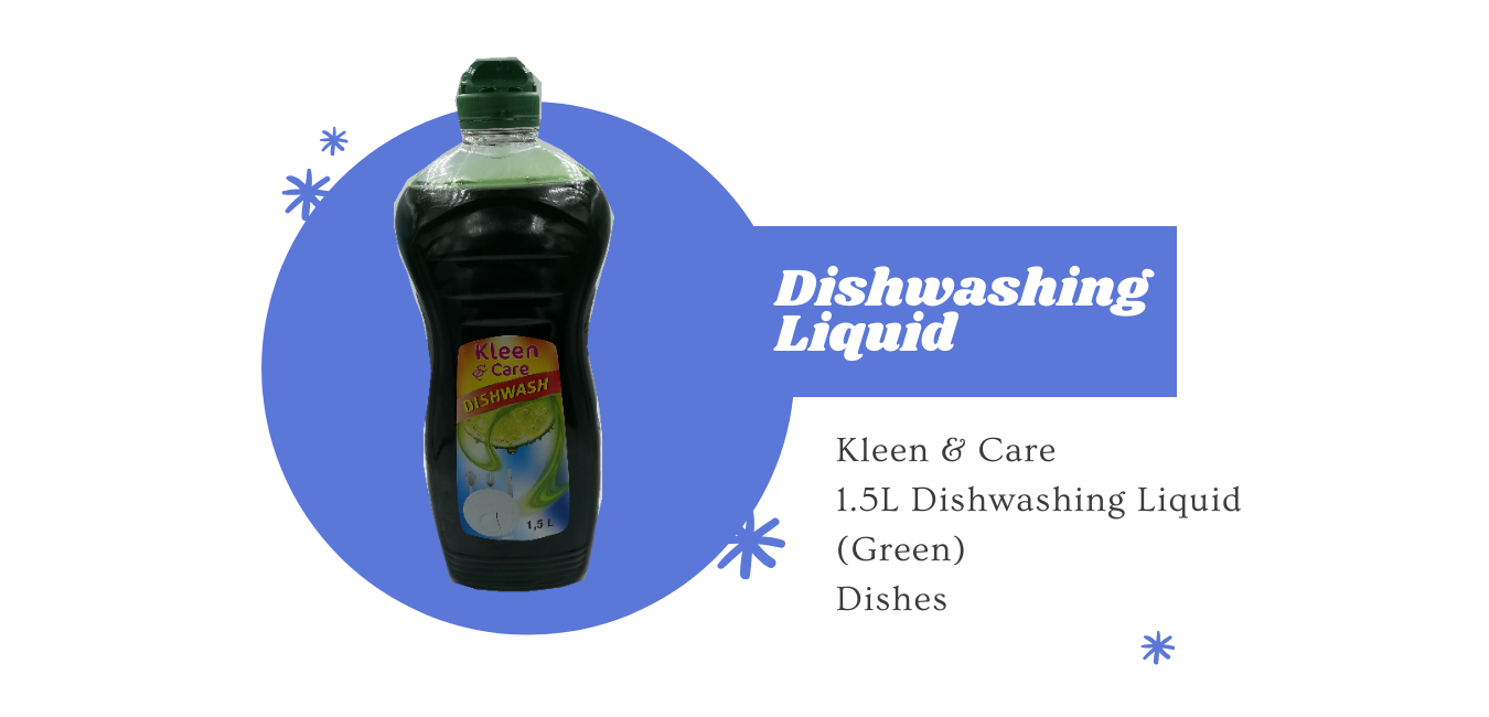 kleen & care dishwashing liquid