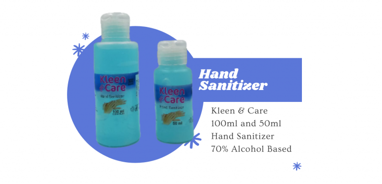 100ml and 50ml hand sanitizer