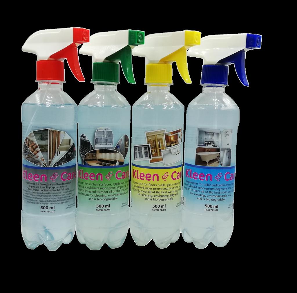 Bio-degradable Regenerate Detergents | Red, Green Yellow & Blue | Estacom Pty Ltd