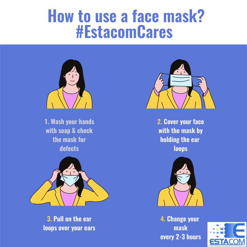 #EstacomCares | Estacom Pty Ltd | Cotton Face Mask